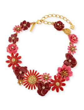 Small Gilded Floral Collar Necklace by Oscar De La Renta