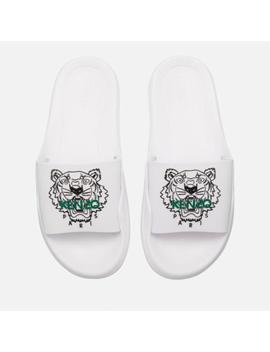 Kenzo Women's Pool Slide Sandals   White by Kenzo
