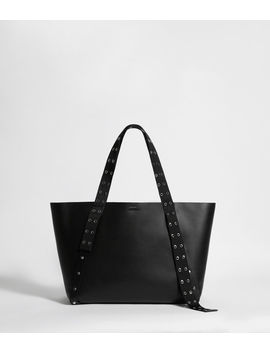 Sid Leather East West Tote Bag by Allsaints