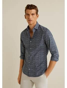 Camisa Slim Fit Estampado Micro Flores by Mango