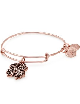 Four Leaf Clover Charm Bangle Bracelet by Alex And Ani