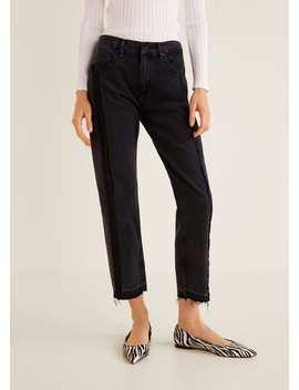 Düz Kesim Koyu Yıkama Jean Pantolon by Mango
