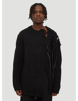 Cut Out Knit Sweater In Black by Yohji Yamamoto