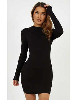 Rough Ride Dress In Black by Showpo Fashion