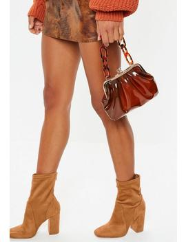 Brown Tortoiseshell Transparent Handbag by Missguided
