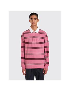 Stüssy Desmond Stripe Rugby Shirt Pink by Très Bien