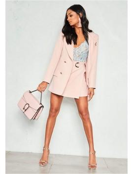 Maggie Pink Longline Blazer by Missy Empire