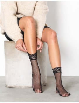 Lace Ankle Fishnet Socks by Nly Lingerie
