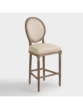 Round Back Paige Upholstered Barstool by World Market