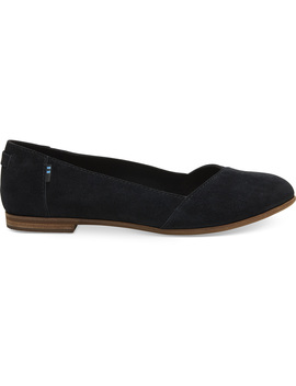 Black Suede Women's Julie Flats by Toms