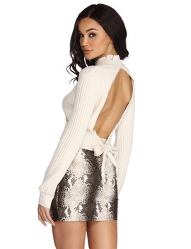Open Up Knit Sweater by Windsor