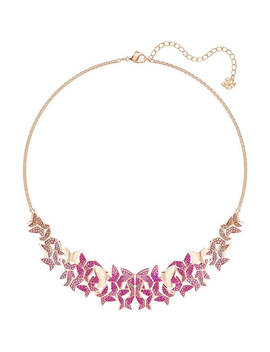 Lilia Necklace, Large, Multi Coloured, Rose Gold Plating by Swarovski