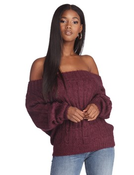 Relaxed Cable Knit Sweater by Windsor