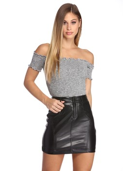 Style Knit Right Crop Top by Windsor