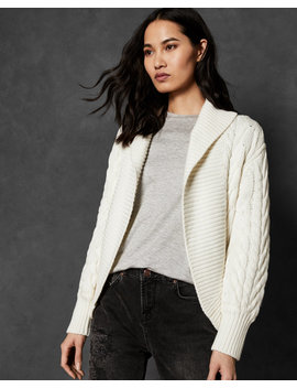 Cable Knit Shawl Cardigan by Ted Baker