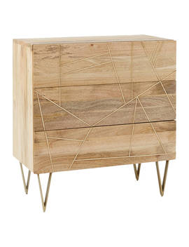 Roar + Rabbit For West Elm Geo Inlay 3 Drawer Chest by West Elm