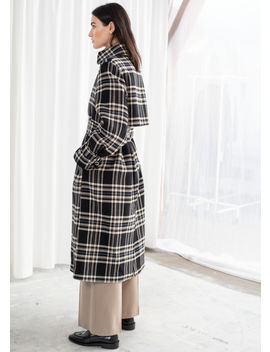 Belted Plaid Trench Coat by & Other Stories