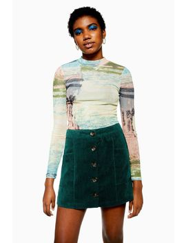 Abstract Funnel Neck Top by Topshop
