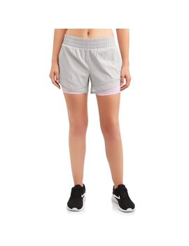 Women's Core Active Woven Running Short With Bike Liner by Avia