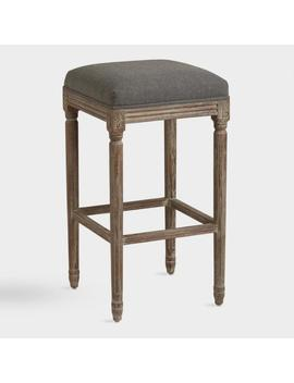 Backless Paige Upholstered Barstool by World Market