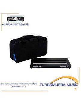 Pedaltrain Metro 16 Guitar Pedal Board W/ Heavy Duty Soft Case Bag Pt M16 Sc by Pedaltrain