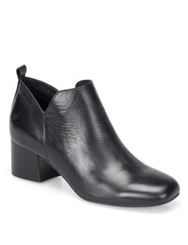 Aneto Leather Block Heel Booties by Born