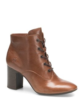 Magpie Granny Leather Block Heel Boots by Born