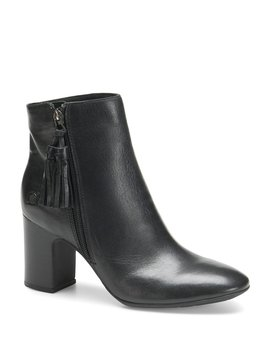 Michie Leather Block Heel Booties by Born