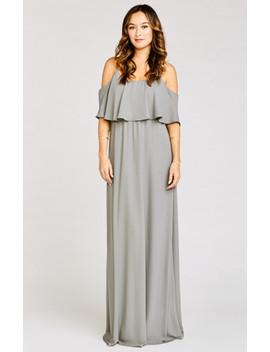 Caitlin Ruffle Maxi Dress ~ Soft Charcoal Crisp by Show Me Your Mu Mu