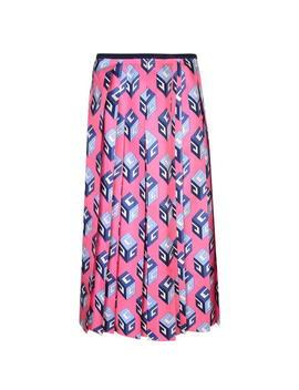 Gg Wallpaper Print Silk Skirt by Gucci