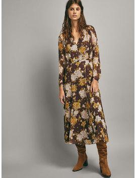 Kleid Mit Blumenprint by Massimo Dutti