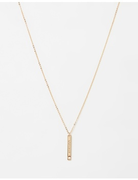 Forever Bar Necklace by Johnny Loves Rosie