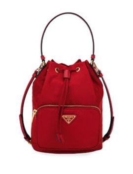 Nylon Bucket Bag by Prada