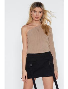 The One I Love One Shoulder Sweater by Nasty Gal