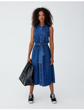 Φόρεμα σεμιζιέ με φιόγκο by Pull & Bear