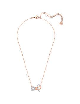 Lifelong Bow Pendant, White, Mixed Plating by Swarovski
