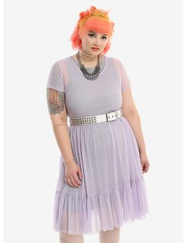 Lavender Mesh Babydoll Dress Plus Size by Hot Topic