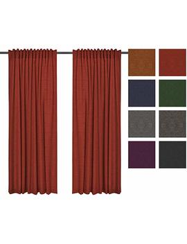 Roll Mayer Canvas & Opaque Curtains With Draw Cord/Set Of 2 Sun And Screen Lightproof Curtain For Curtain Track Gliders Curtain, Curtain For Living Room Bedroom Children's Room by Amazon