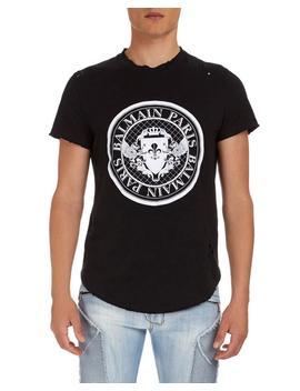 Circle Logo Jersey T Shirt by Balmain