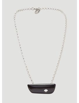 Chunk Necklace In Black by Namacheko