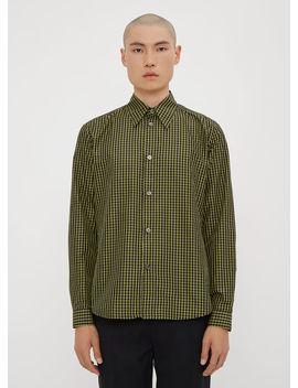 Narrow Classic Shirt In Green by Namacheko