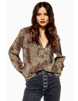 Tall Leopard Long Sleeve Shirt by Topshop