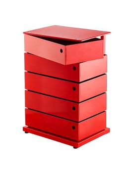 Large Red 5 Bin Storage Tower by Container Store