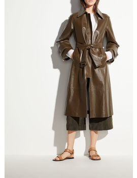 Double Face Leather Trench by Vince