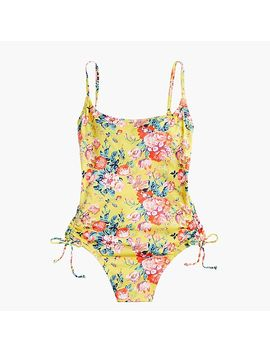 Ruched Side One Piece Swimsuit In Liberty® Magical Bouquet by Ruched Side One Piece Swimsuit In Liberty