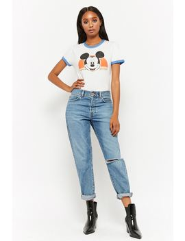 Mickey Mouse Graphic Ringer Tee by Forever 21