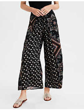 Ae High Waisted Mix Print Palazzo Pant by American Eagle Outfitters