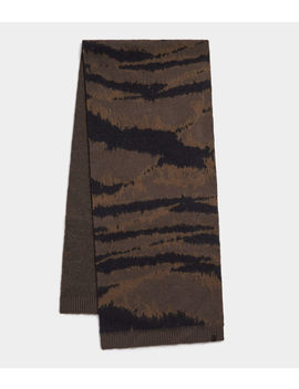 Camo Jacquard Scarf by Allsaints