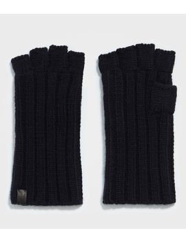 Ribbed Cut Off Fingerless Gloves by Allsaints