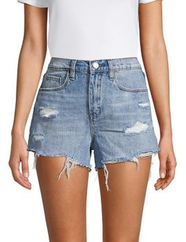Deconstructed Denim Shorts by Blank Nyc